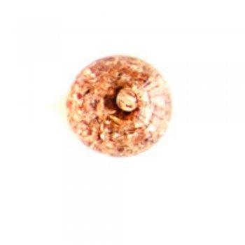 Бусины 11 мм. Пластик с кракеллюрами приглушенно-коричневый