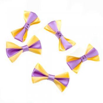 Текстильний елемент Жовто-бузковий бант
