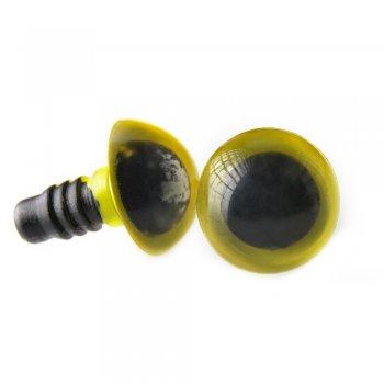 Пластиковые глазки. Зеленый. Диаметр 12 мм.