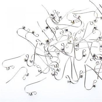 Швенза крючкообразная со стразом мельхиоровая