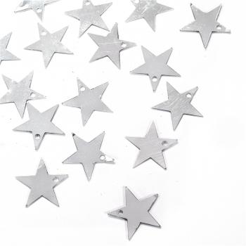 Пайетки серебристая звезда 16мм (0,005кг)