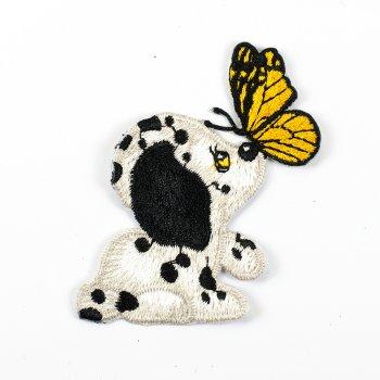 Тканевая нашивка Далматинец с бабочкой