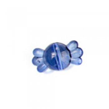 Пластиковые кристаллы оригинальные. Бусина-конфета синяя маленькая