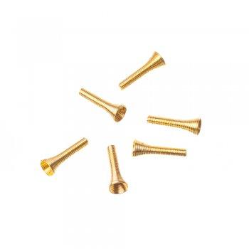 Конусы и колпачки золотые 27 мм