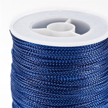 Нить люрексовая, синяя, 1 м