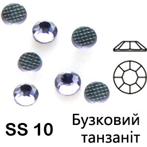 SS 10 Сиреневый танзанит, термоклеевые стразы