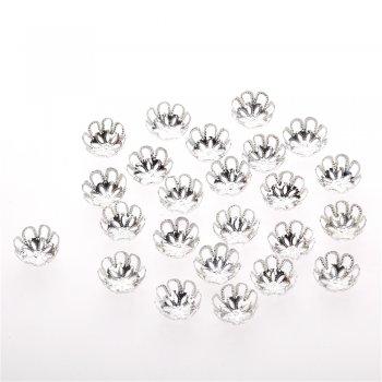Обниматели серебро цветок 16 мм