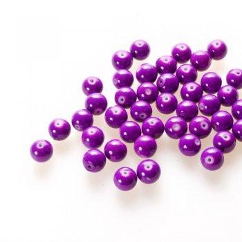 Намистина скляна 12 мм фіолетова