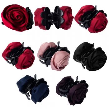Заколка для волос крабик Роза