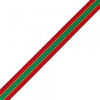Лента полиэстеровая с узором 2 см красный зеленый