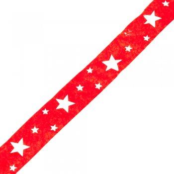 Стрічка фетровий 2,5 см червоний