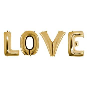 Шарики надувные в виде слова LOVE 40 см