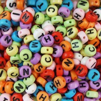 Пластиковые бусины-буквы Английский алфавит (26 шт)