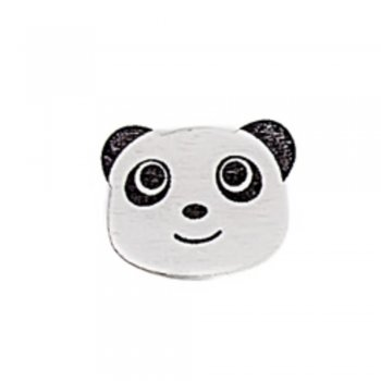 Панда здивована Дерев'яний клейовий елемент