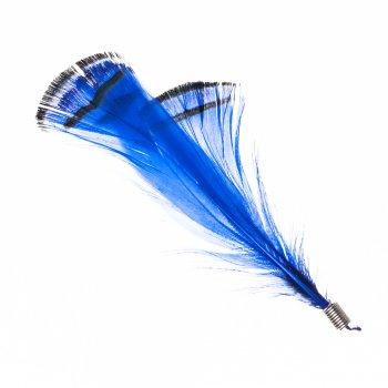Перьевые элементы. Синий, черный. 10 см