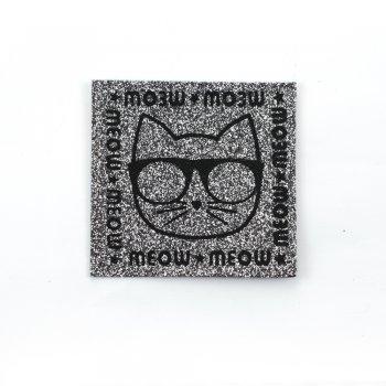 Тканинна нашивка Кот в чорних окулярах