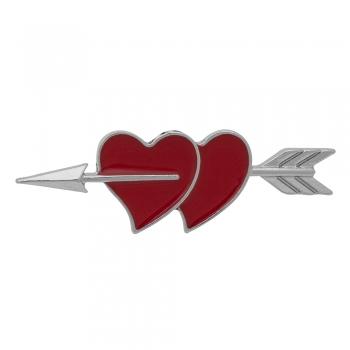 Значок пін Два Серця зі стрілою