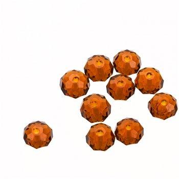 Кришталеві намистини прозорий коричневий коло