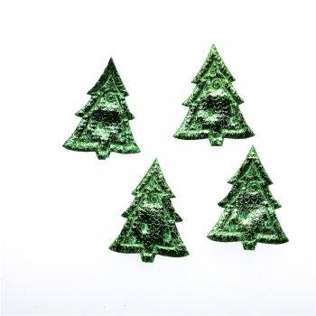 Текстильные дутые элементы ёлка зеленая