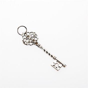 Кулон металлический ажурный ключ