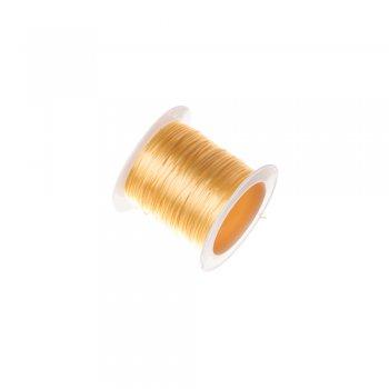 Резинка силиконовая, желтая 0.8мм