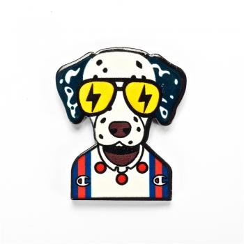 Пластиковый клеевой элемент Собака. Микс цветов. Длина 25 мм, ширина 24 м.