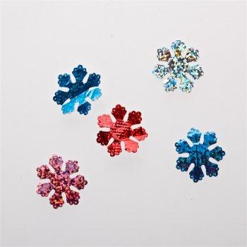 Текстильные дутые элементы микс цветов 25 мм
