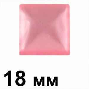 Пластиковые кабошоны розовый выпуклый квадрат