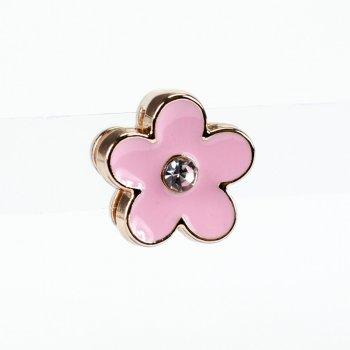 Бусина слайдер Цветок розовое золото