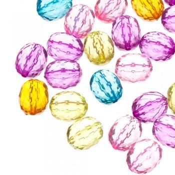 Пласт.кристаллы овальные граненые