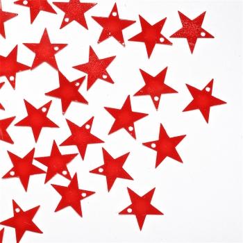 Пайетки красная звезда 16мм (0,005кг)