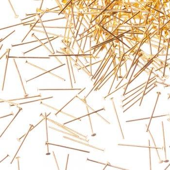 Бижутерные гвоздики золотой 20 мм