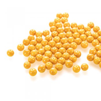 Скляна намистина, жовта, 8 мм