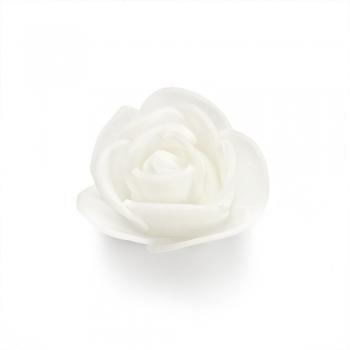 Штучна троянда, біла, 75 мм