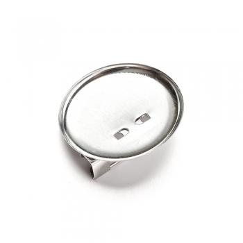 Основа для броши круглая клеевая, мельхиор, 30 мм