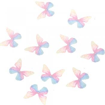 Шелковые бабочки розовый желтый