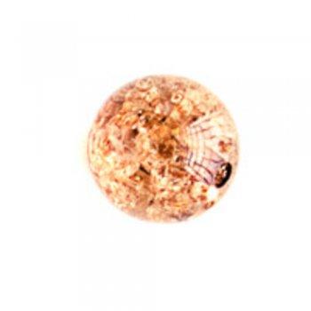 Бусины 13 мм. Пластик с кракеллюрами приглушенно-коричневый