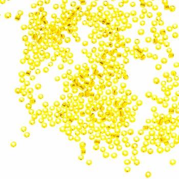 Бисер круглый, мелкий, желтый огонек. Калибр 12 (1,8 мм)