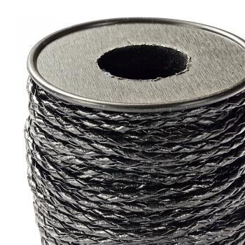 Шнур-кіска чорний, екошкіра, 3 мм