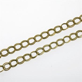Цепь бронзовая средняя панцирная двойная 8х10х0,8 мм