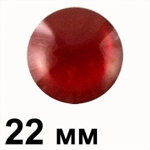 Пластикові кабошони червоний опуклий круг 22 мм