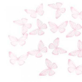 Шелковые бабочки розовые