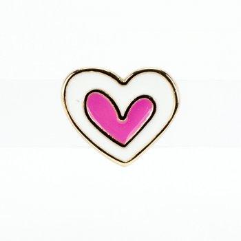 Бусина слайдер Сердце розовое лимонное золото