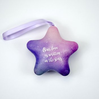 "Коробочка жестяная, 97х95х52мм ""Фиолетовая звезда"""