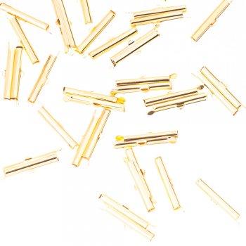 Затискачі для стрічок і основ золотий 25 мм