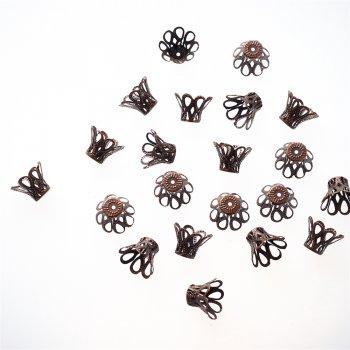 Конусы ажурные 8 лепестков медь