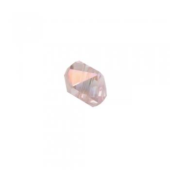 Хрустальная бусина выпуклая 8 мм розовая