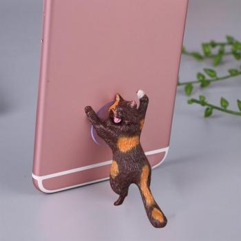 Держатель для телефона Кошачья поддержка Кот коричневый