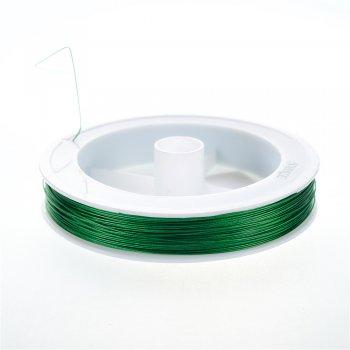 Металева волосінь 100 м (+-10%). Зелений. Діаметр 0,45 мм