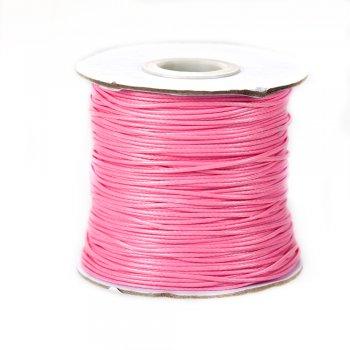 Шнур розовый, хлопок с пропиткой, 1 мм